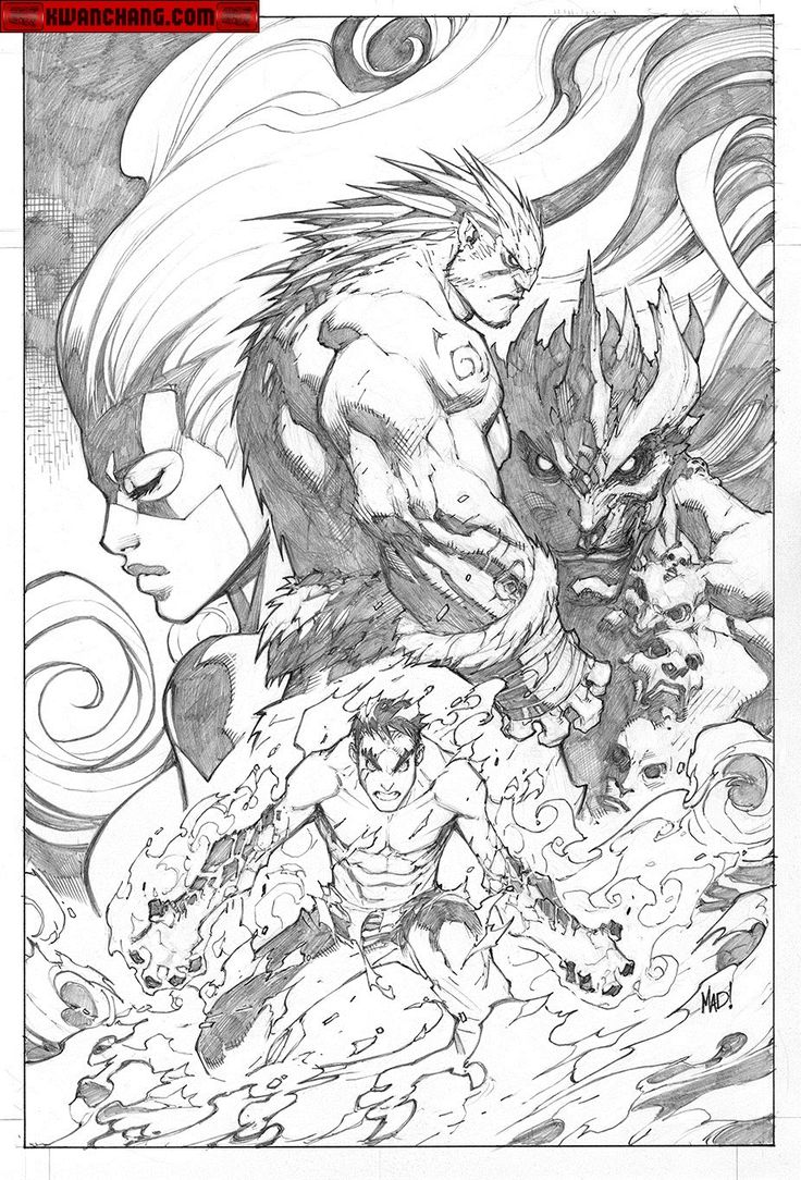 Kwan Chang :: For Sale Artwork :: Inhuman # 3 by artist Joe Madureira