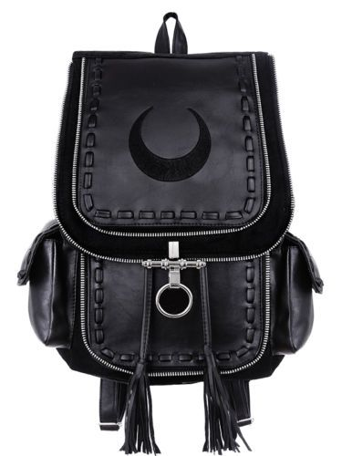 Restyle-Rucksack-Gothic-Mond-Tasche-Crescent-Moon-Sailor-90s-Witchy-Bag-Backpack