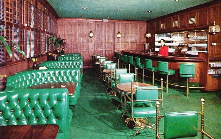 Beverly wilshire hotel bar vintage postcard this space is for Food bar wilshire