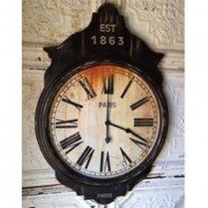 Clocks – Decor Objects :     Extra Large Parisian Wooden Wall Clock    $168.00 @ antiquefarmhouse….    -Read More –   - #Clocks https://decorobject.com/decorative-objects/clocks/clocks-decor-objects-extra-large-parisian-wooden-wall-clock-168-00-antiquefarmhouse/