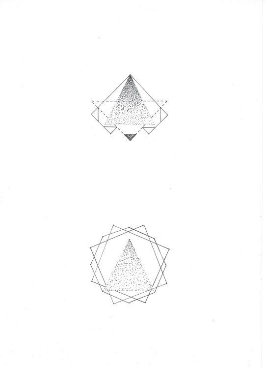 TRANGLES  geometric tattoo design  A4 black ink and dots   cipananatalia.tumblr.com