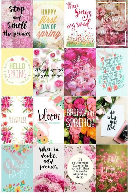 Spring Floral Planner Stickers for use with by AliciaMichelleXO