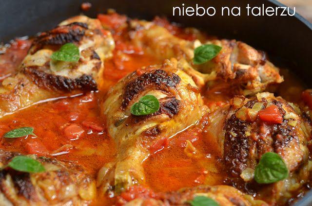 Szybki przepis na bardzo dobry obiad, udka z kurczaka w pomidorach curry, zdrowe danie fit dla osób na diecie, dzieci i dorosłych