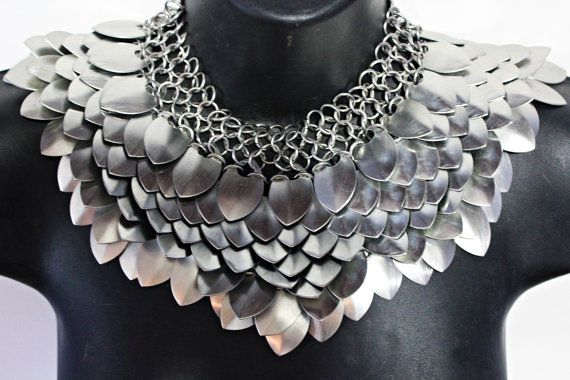 Scale Mail Gorget Choker Stainless Steel by worldinchainsmaille