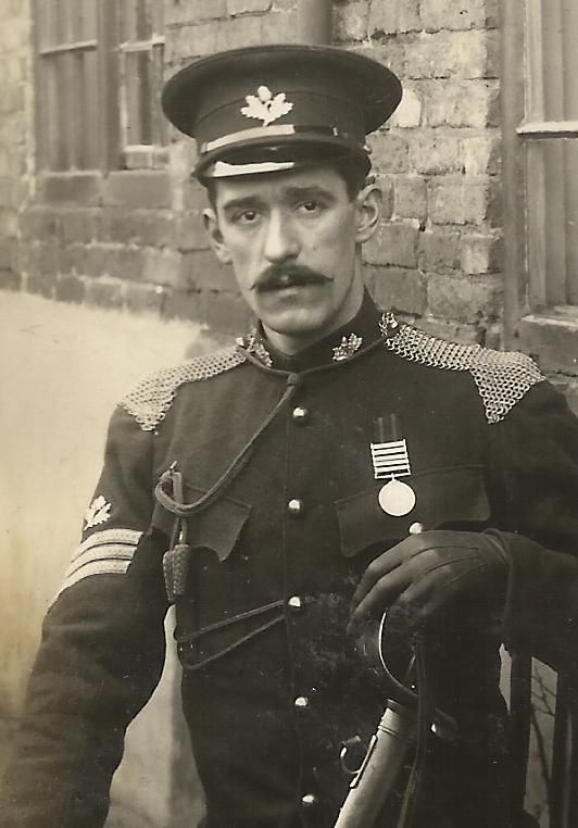 Details about SOUTH NOTTS HUSSARS Sgt portrait with sword ...