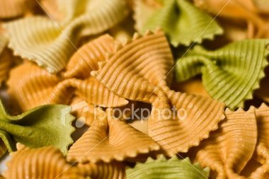 Butterfly Shaped Colored Pasta
