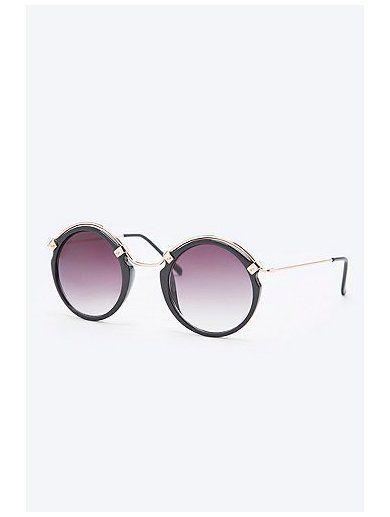 Spitfire Ateen Round Sunglasses in Gold www.sellektor.com
