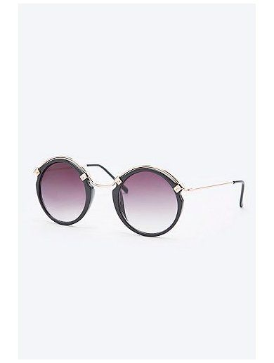 Spitfire Ateen Round Sunglasses in Gold www.sellektor.com