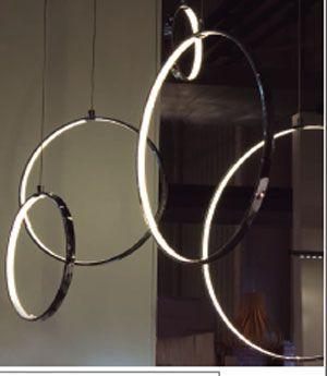 lamparas techo lampara techo aros lmparas modernas