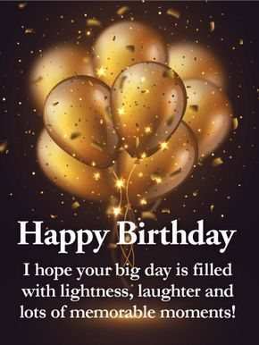 Golden Balloon Happy Birthday Wishes Card for Grandson: This sleek and sophisticated birthday card will make your grandson feel loved and remembered on his birthday. Golden balloons float above against a rich, dark background. And right in front is your special message to him: a wish for an unforgettable celebration. Because nobody deserves it more!