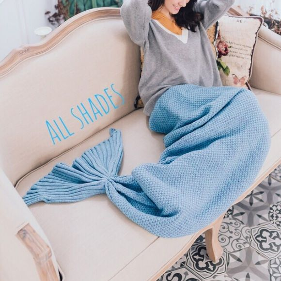 Last one! Blue mermaid tail blanket warmer Brand new!! Limited quantity available! Price is firm! Other