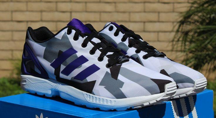 ... adidas originals zx flux white court purple black b34517 $199.00 - adidas  zx flux purple orange ...