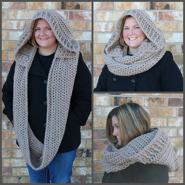 Ravelry: The Lucy Hooded Cowl pattern by Shannon Kilmartin/The Hookeraholic Crochet