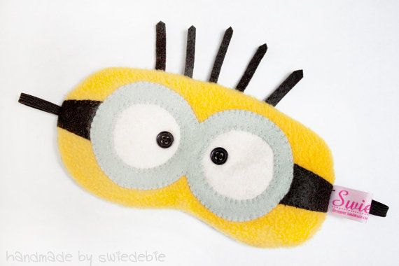Sleeping Eye Mask - Minion, too cute, possible to make with extra fabric