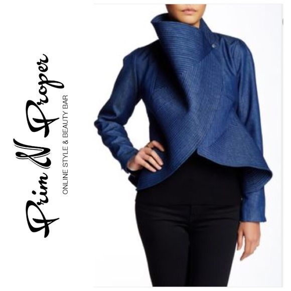 Avant Garde Denim Jacket High fashion statement jacket! Gracia Jackets & Coats Jean Jackets