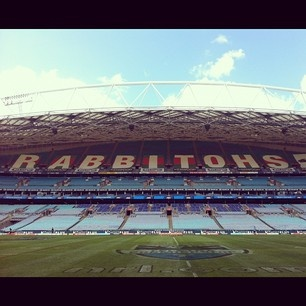 New Rabbitohs signage at ANZ Stadium