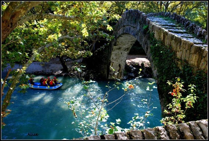 Kleidonias bridge,Voidomatis river,Epirus,Greece