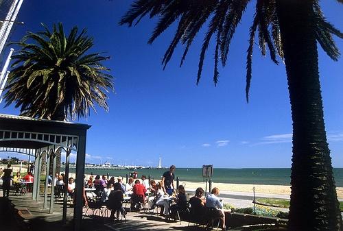 Beautiful Melbourne. http://www.ozehols.com.au/holiday-accommodation/victoria/melbourne-area/melbourne-city  #AccommodationMelbourne #Melbourne #StKilda #beach