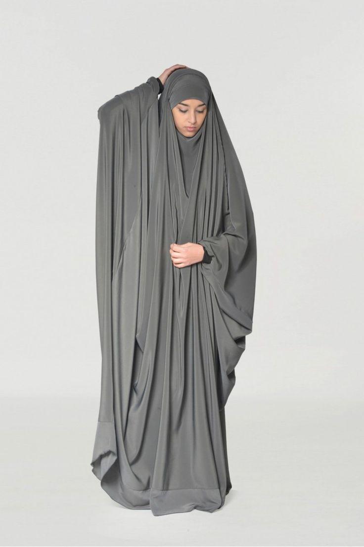 Jilbab Saudi Wool Peach