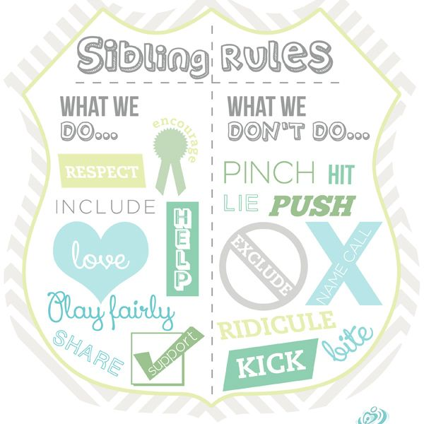 Use iMOM's sibling rules to cut down on bickering, make your house more peaceful, and help your children develop loving relationships with each other.
