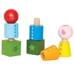 Apila y Enrosca formas y colores de Hape en MiniKidz