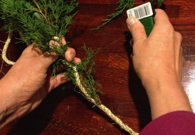 How To: Make Fresh Pine Garland/Roping