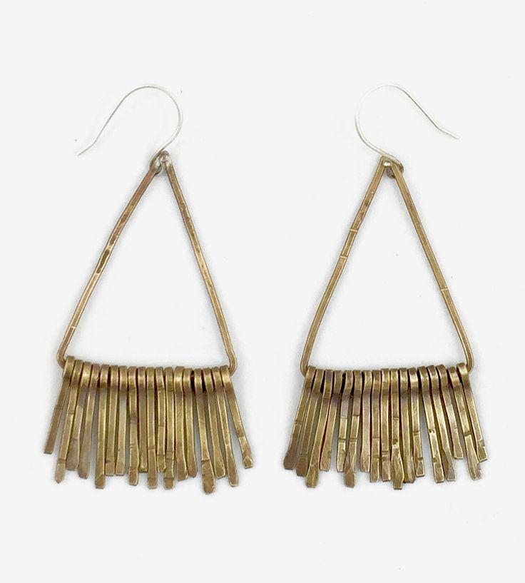 Triangle Fringe Earrings by AVILLA Jewelry on Scoutmob