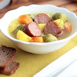 Rosenkohl-Kartoffel-Eintopf [recipe in German and English below that]