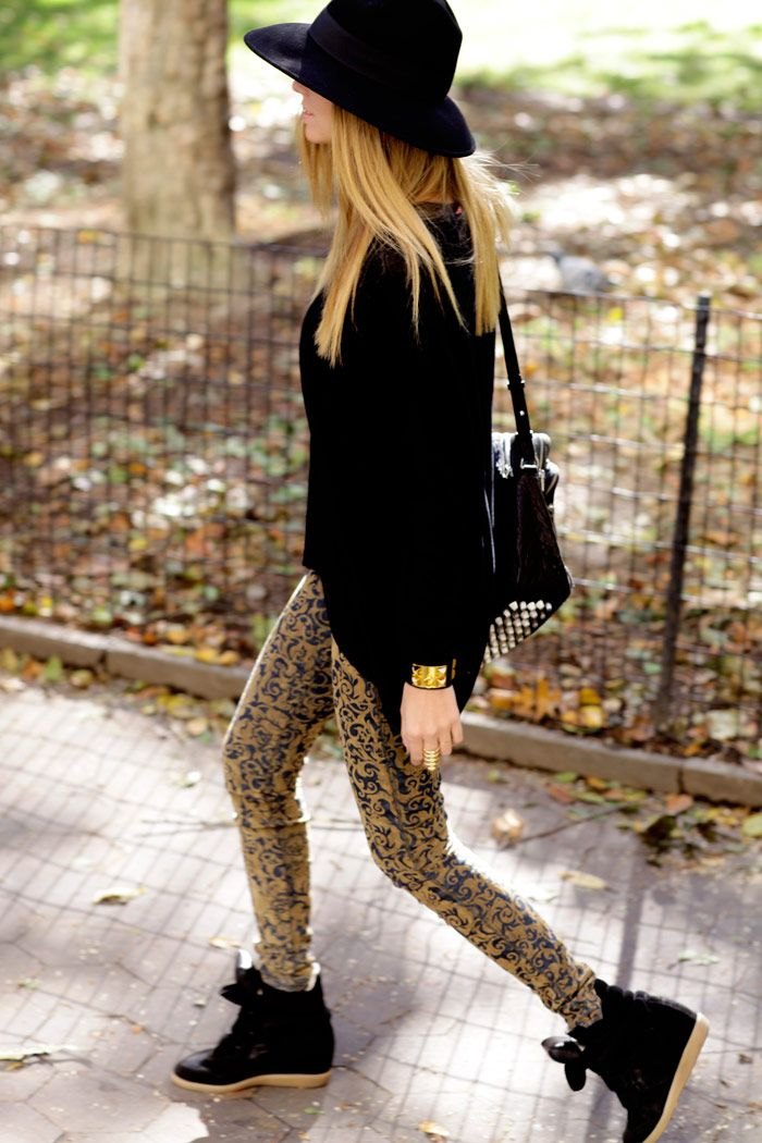 Keep everything else simple when you are wearing leopard print trousers x
