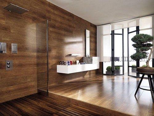 Tile That Looks Like Wood In Bathroom