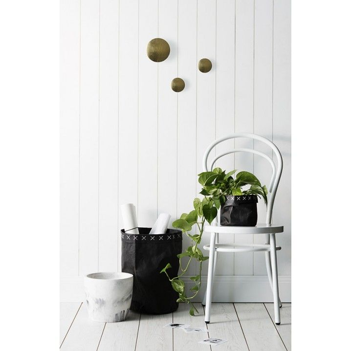 Round polished brass wall hook by Zakkia.  Decorate your wall with a group of these Hooks in various sizes, or stick to the same size for a clean and minimal look.   Small: 7.5 cm in diameter, 5cm projection Large: 12 cm in diameter, 5cm projection