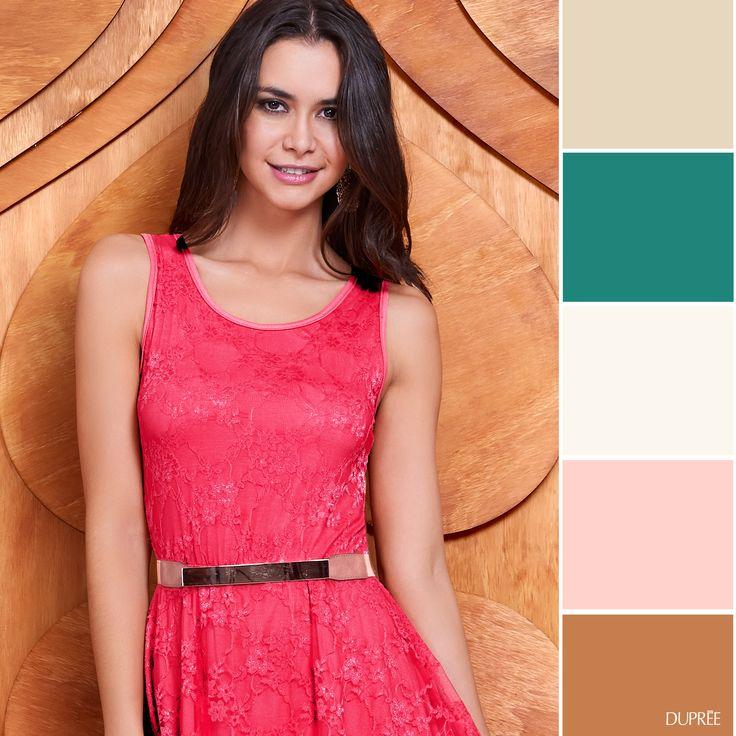 Combina tu ropa: Coral con diferentes tonos en tus accesorios y zapatos. #Ideas #Moda #Dupree