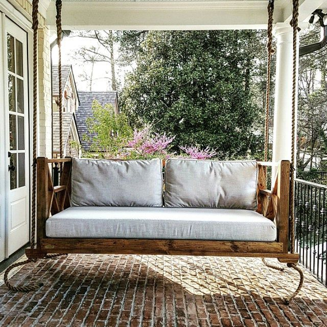 The Seaside Porch Swing Twin Size Hanging Porch Bed Swing