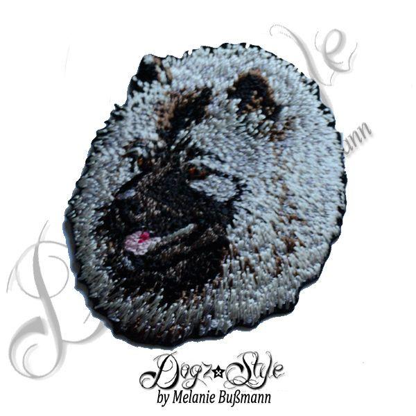 Wolfspitz Hound Patch Flicken gestickt zum aufbügeln Stickerei Hund p123 Dog