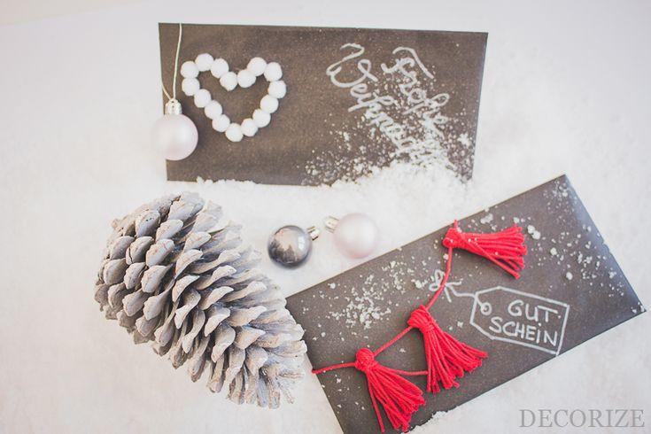 diy Verpackung für Geschenk-Gutschein, Anleitung Umschlag falten
