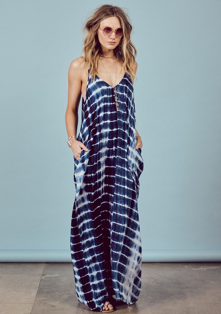 Avila Beach Mila Maxi #dress #indigo #medium-large #small-medium #tie-dye