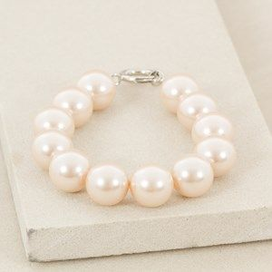 16mm Faux Pearl Toggle Stretch Bracelet