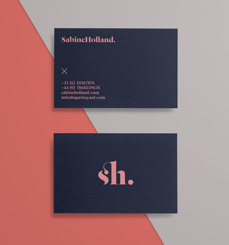 Sabine Holland: Fashion Editor Branding stationary corporate identity business card minimalistic graphic design