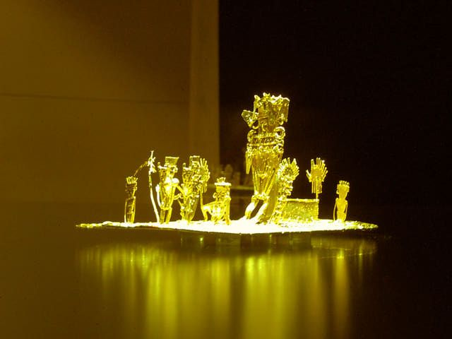 Muisca Culture: Gold Art Work of the Muisca (El Museo del Oro, Bogota, Colombia)