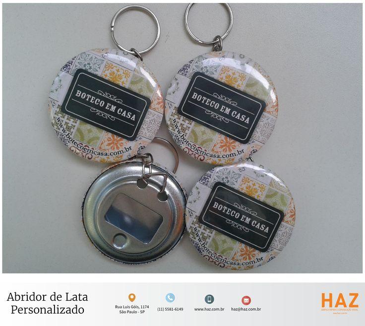 Chaveiro tipo abridor de garrafa personalizado. #haz #hazsign #abridordegarrafa #grafica #chaveiro #design #boteco #propaganda #brinde