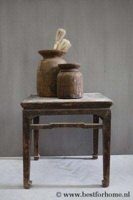 25 beste idee n over houten bijzettafels op pinterest houten tafels project tafel en vintage - Tafel met chevet ...