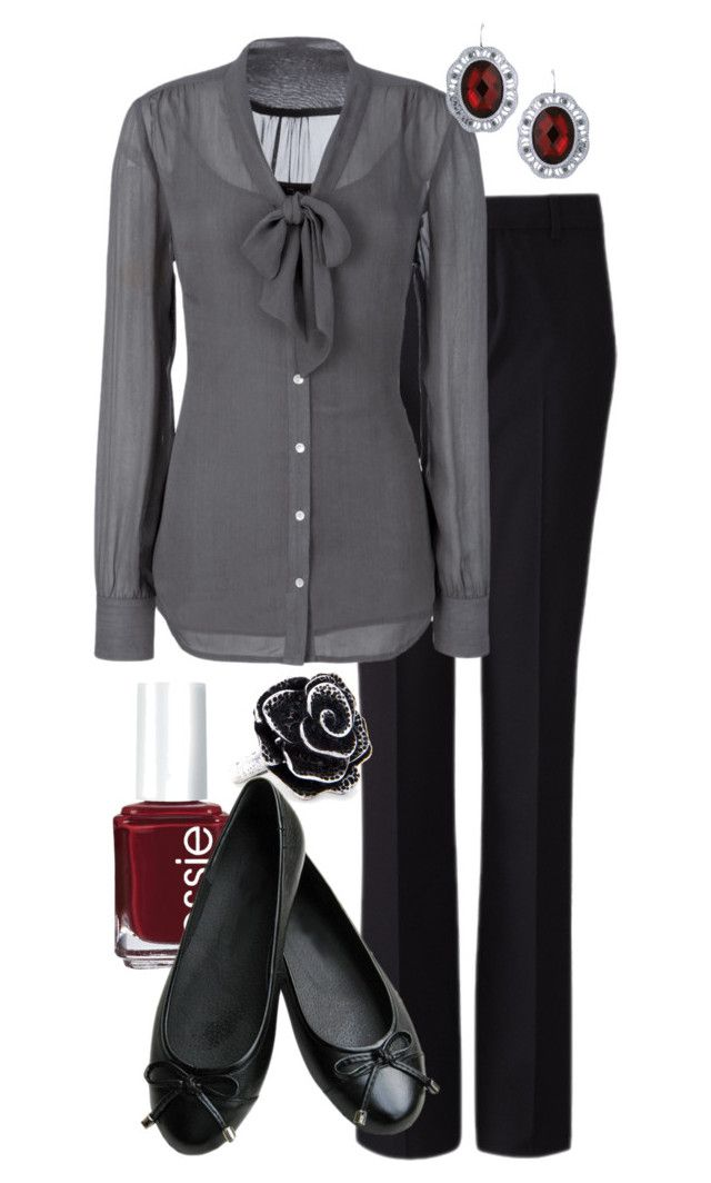 """""""Teacher Outfits on a Teacher's Budget 76"""" by allij28 ❤ liked on Polyvore featuring Uniqlo, Essie, MANGO, women's clothing, women, female, woman, misses and juniors"""