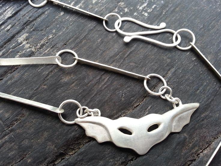 Emily Efford – cast silver gremlin with chunky handmade chain