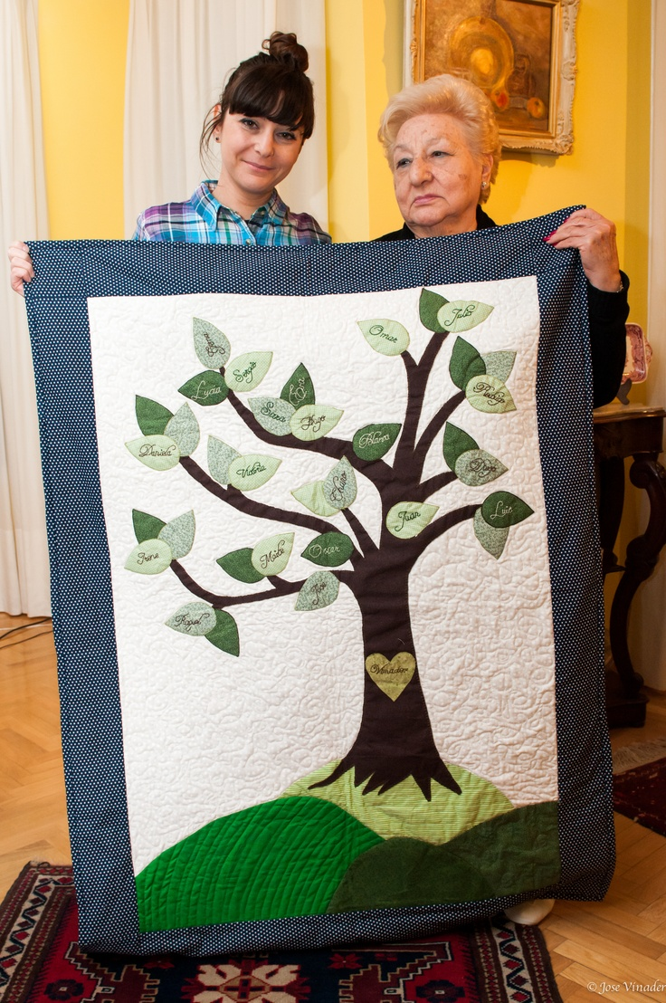 Make your family tree a quilt!!! Would be a part of your heritage, and it will keep you warm!!