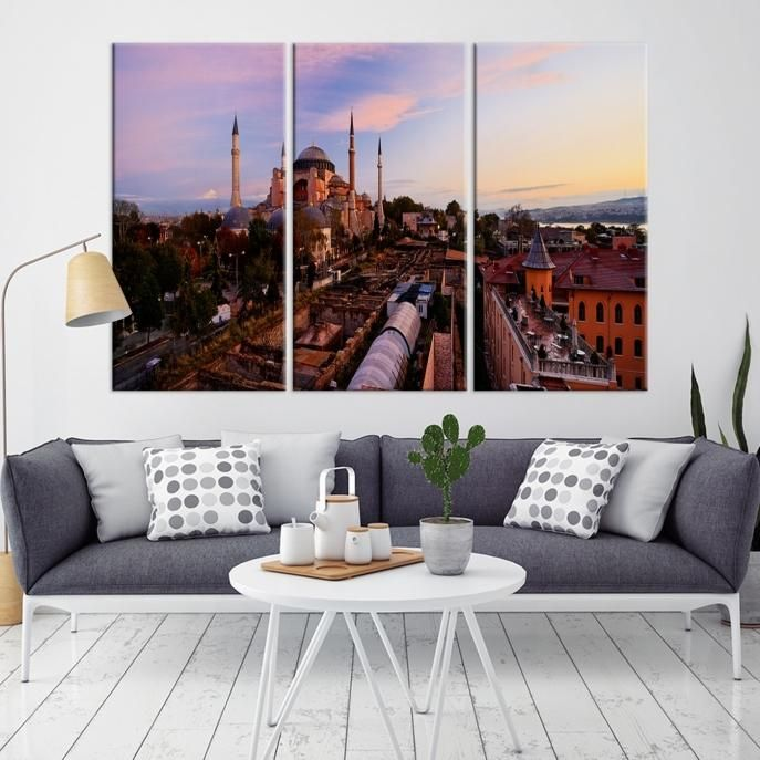 68063 – Large Wall Art Turkey Istanbul Skyline Canvas Print