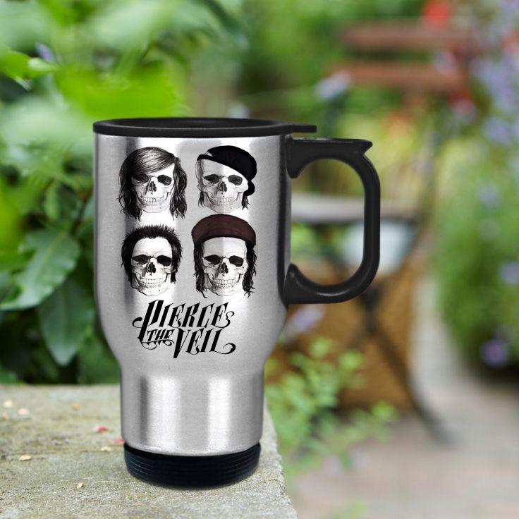 Pierce The Veil Stainless Steel Travel Mug