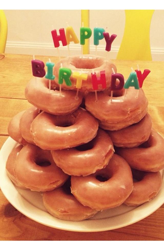 Happy Birthday Police Donut Cake