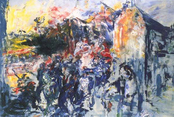 'Grief' (1951) by Jack B. Yeats My absolute favourite painting, ever.