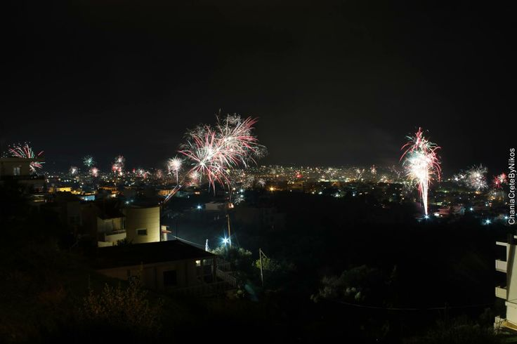 Celebration of the New Year in Chania, Crete, Greece