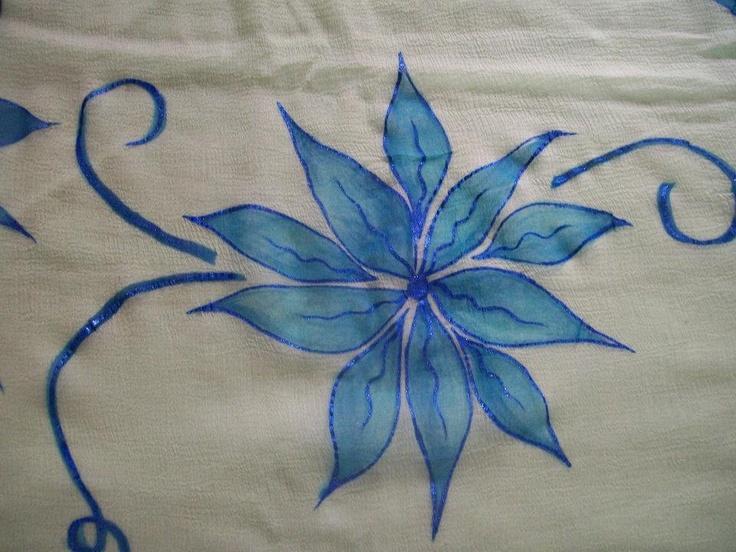 .Hand painted fabric by Sandhya Phalke